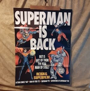Superman Other - Superman Collectible Poster - Brand New In Protect